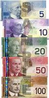 dollars canadiens billets