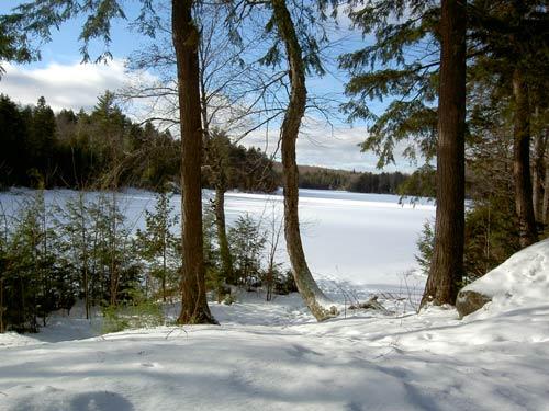 paysage quebec neige