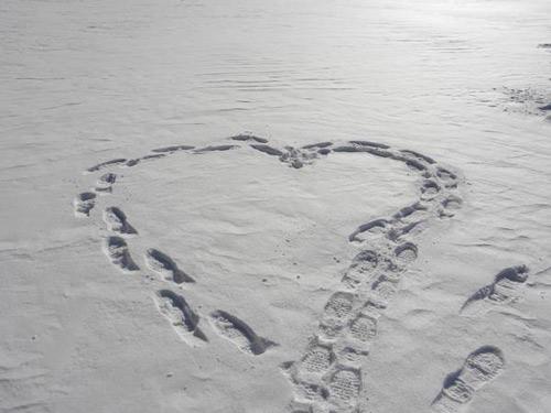 coeur de neige