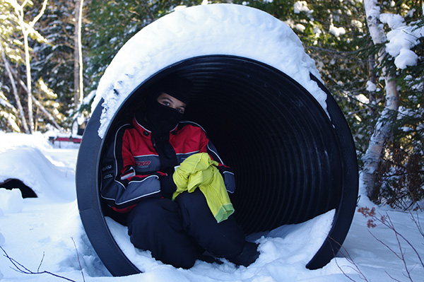 cache cache l'hiver
