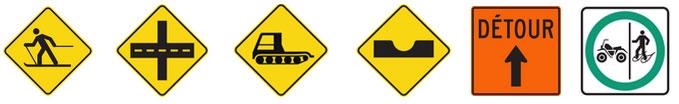 Signalisation pour motoneige au Québec