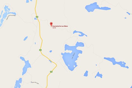 carte pourvoirie lac blanc