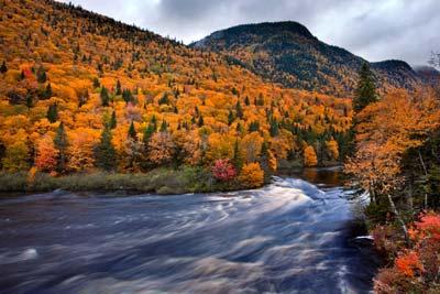 riviere quebec en automne