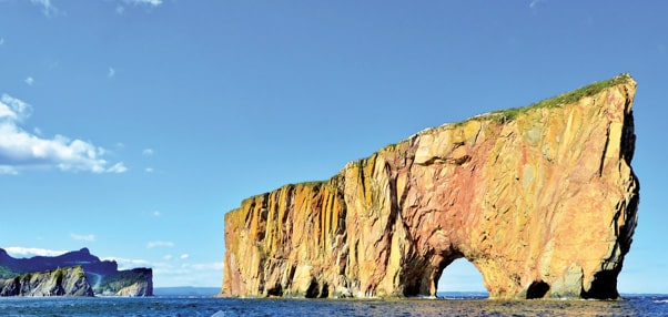 Gaspésie rocher percé