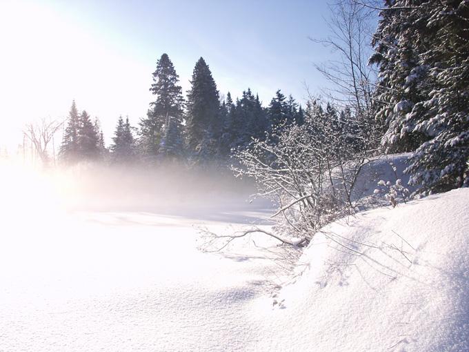 Riviere du canada gelee
