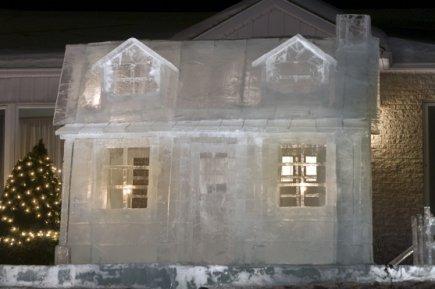la sculpture sur glace au quebec. Black Bedroom Furniture Sets. Home Design Ideas