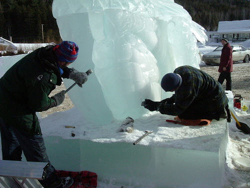 sculpteurs de glace