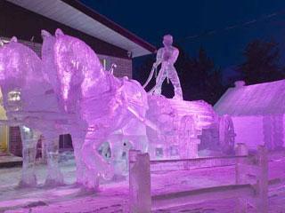 sculpture sur glace canada