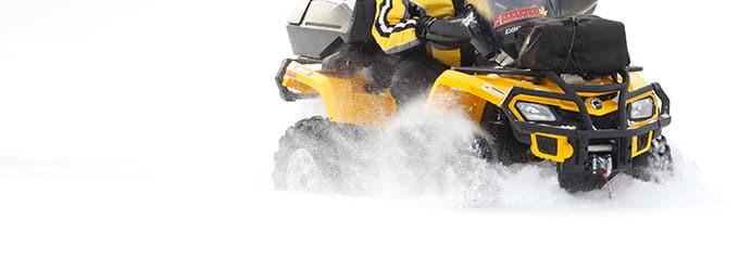 quad sur neige au quebec