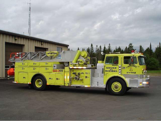 Camion pompier Quebec