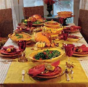 menu repas thanksgiving