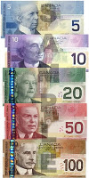 dollars canadiens billets