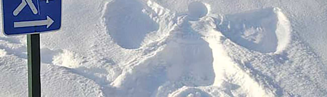 empreintes dans la neige du quebec