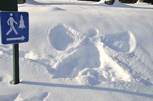 trace neige