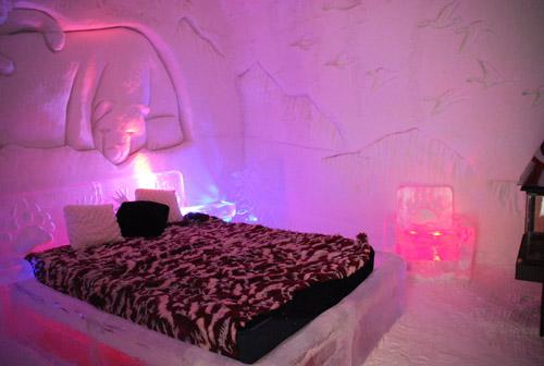chambre hotel de glace