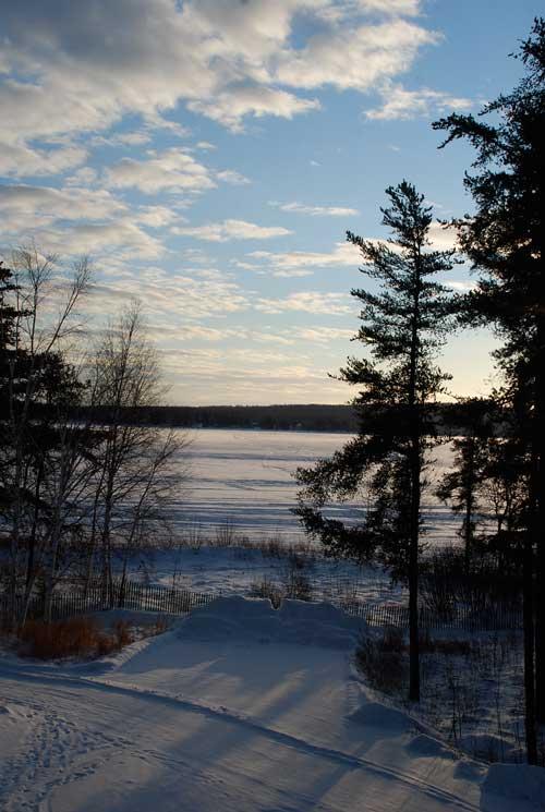 couche soleil lac
