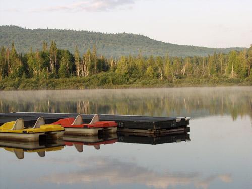 lac embrumé