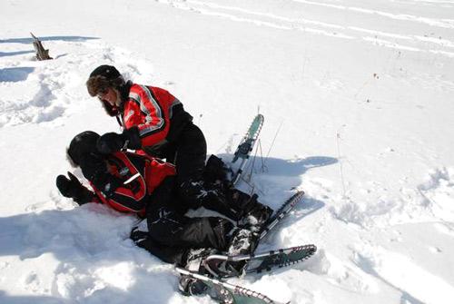 bataille dans la neige