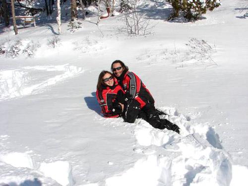 calin dans la neige