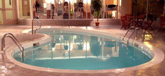 piscine montagne coupée