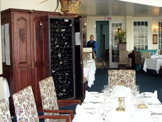 salle restaurant montagne coupée