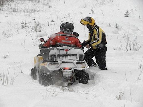 quad dans neige