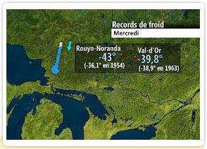 Semaine record de froid sur le Québec