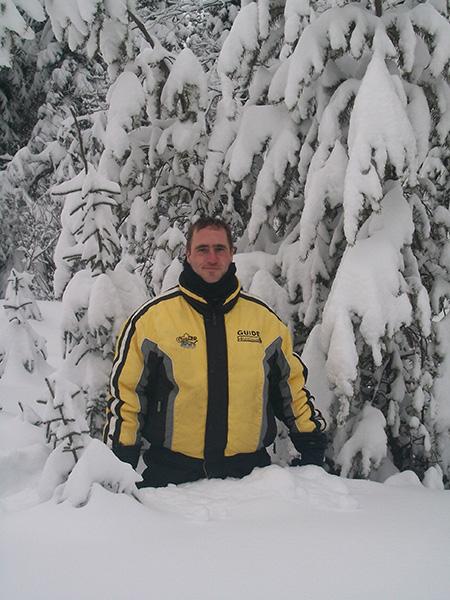 neige jusqu'aux hanches
