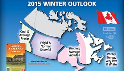 carte meteo hiver 2015 canada