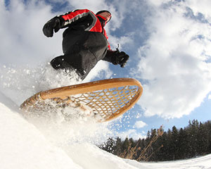 Pratique raquette a neige