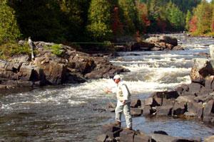 Peche au quebec en riviere