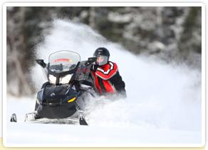 Circuit motoneige hors-pistes au Canada