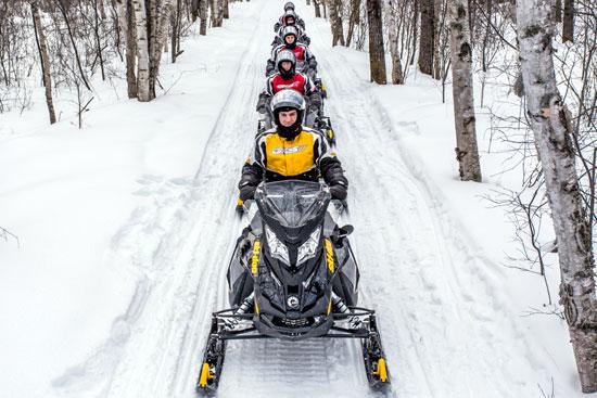 Circuit motoneige au Canada