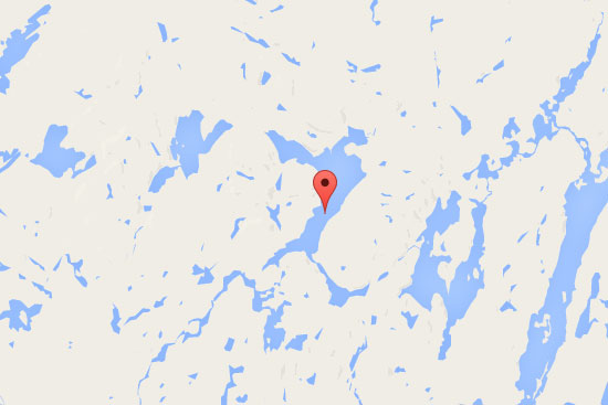 carte pourvoirie 100 lacs