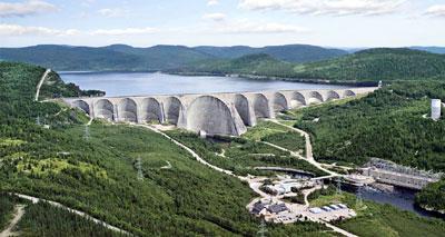 réservoir barrage électrique quebec