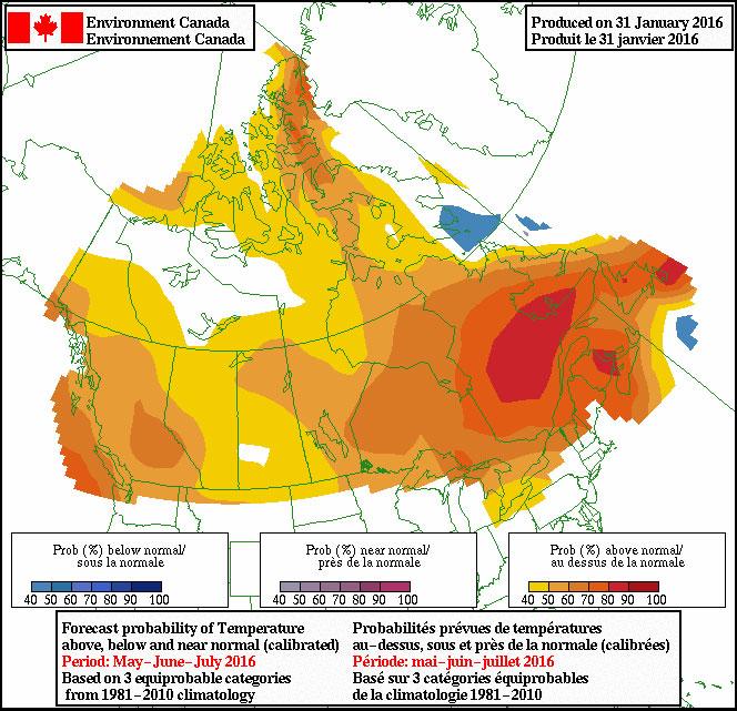 carte météo été 2016 canada