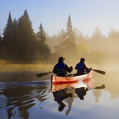 canot en riviere
