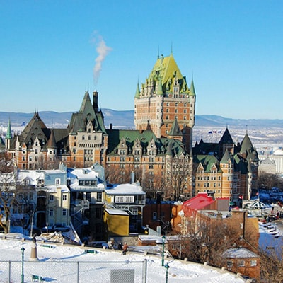 chateau frontenac hiver