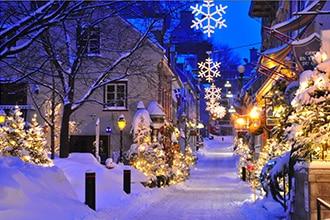 rue hiver vieux quebec