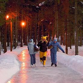 patinoire hiver au quebec