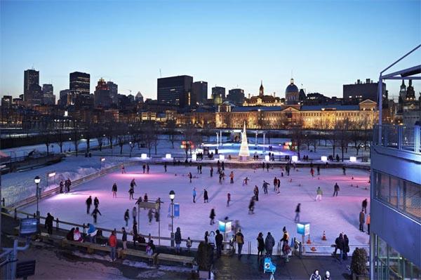 La patinoire des Quais de Montréal