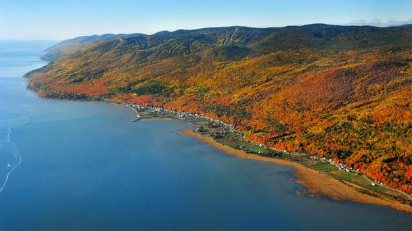 route du fleuve automne