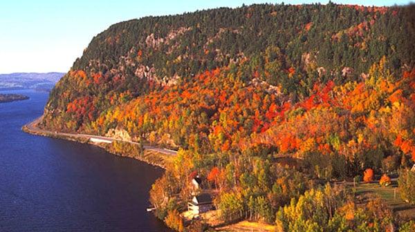route des rivières automne