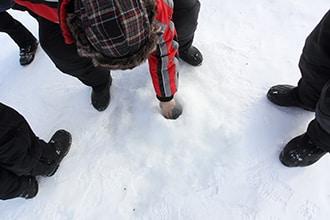 trou peche sur glace
