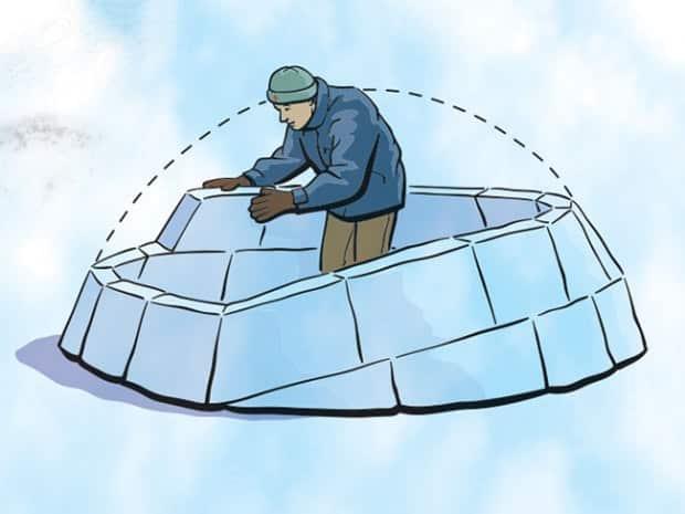 construction d'un igloo