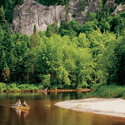 canot au parc national de mont tremblant