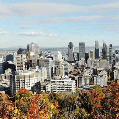 montreal vue automne