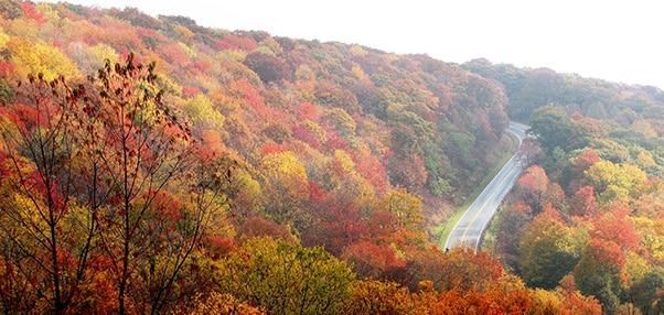 autotour en automne sur les routes du quebec