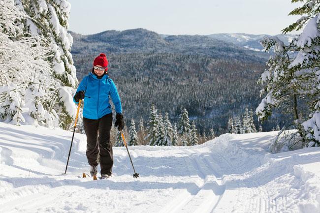 sentier ski de fond au quebec
