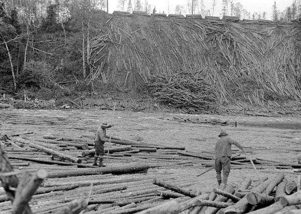 Flottage du bois Trois-Rivières
